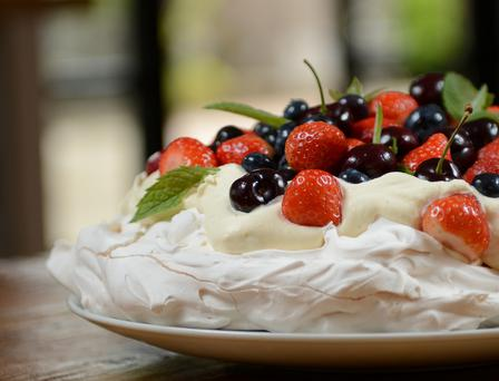 Summer Berry Pavlova by Kevin Dundon. Photo: Ernie Leslie