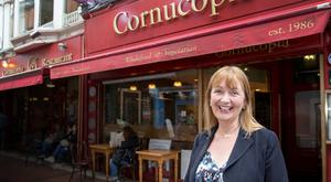 Setting the juice loose: Deirdre McCafferty outside the Cornucopia on Wicklow Street, Dublin.
