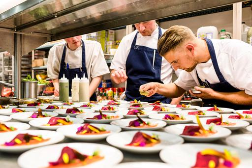 Top of the pops: Stevie Toman supervises the Ox team at their New York event. Photo Elaine Hill Photography