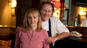 Brownie points: Aidan McGrath and Kate Sweeney are the people behind the Wild Honey Inn, which became the first pub in Ireland to be awarded a Michelin star. Photo: Press 22