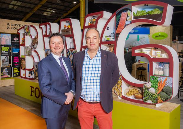 Ricky O'Brien of BWG Foodservice with Professor Charles Spence