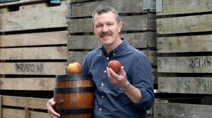 Cider producer Mark Jenkinson pictured in Stackallan, Co Meath. Photo: Justin Farrelly