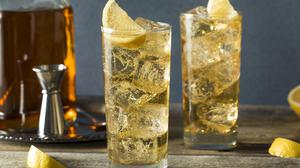 'My favourite drink this summer is also far from original: whiskey and soda with ice.' Lemon slice optional!