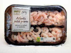 Simply M&S Atlantic peeled prawns