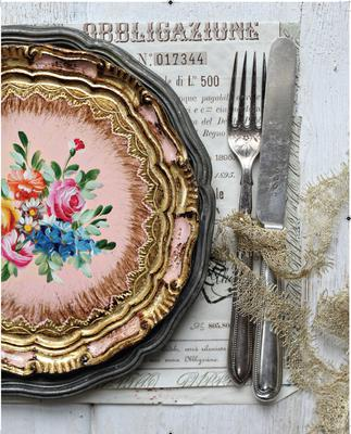 A table setting featured in Eileen's book