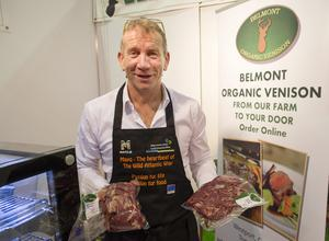 Tomas Tierney of Belmont Organic venison from Mayo