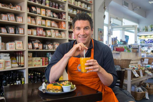 HEALTHY OPTIONS: Oliver McCabe of Select Stores in Dalkey, where the Fuel Food wholefood store and deli is powering up locals and celebrities alike. Photo: Tony Gavin