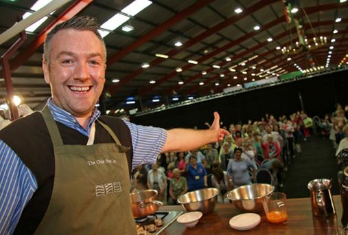 A warm welcome extended: Gearoid Lynch, proprietor of the Olde Post Inn in Cloverhill, at the Taste of Cavan festival which took place recently at Cavan Equestrian Centre