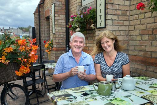Joe and Sharon Donnelly at the Fair Play cafe in Ringsend.