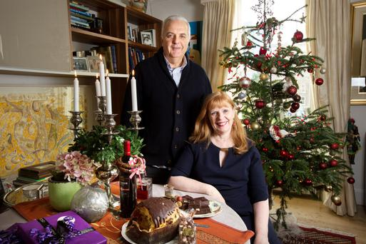 Formidable food: Stefano Crescenzi enjoys an Italian Irish Christmas with his wife Eileen