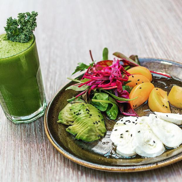 One of Counter Culture's colourful salad and juice creations. Facebook