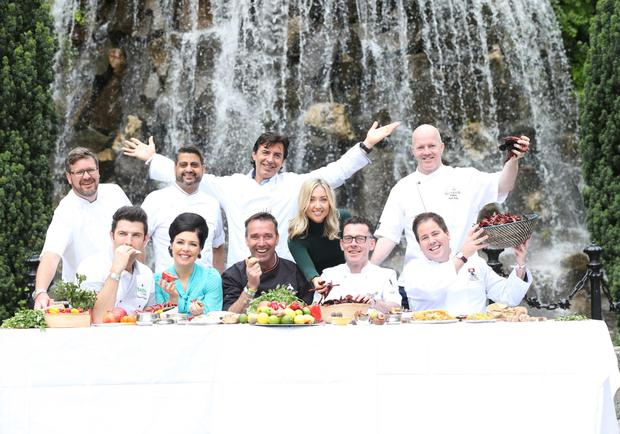 Top table: Jean Christophe with other top chefs at Taste of Dublin in Iveagh Gardens last year