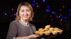 Siobhan Lawless of Foods of Athenry with Gluten free Mince pies. Photo: Andrew Downes, xposure