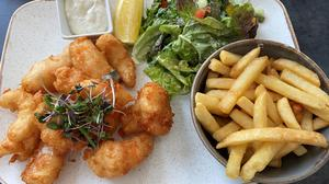 Dublin Bay prawn scampi and fries at the Lighthouse Terrace. Photo: Lucinda O'Sullivan