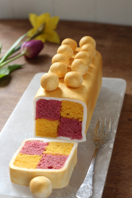 Simnel Battenberg slice by Shane Smith for Weekend mag, Easter 2020
