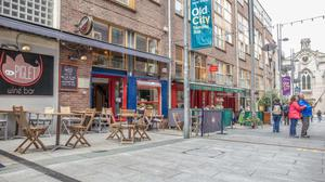 Outdoor dining at Piglet Wine Bar in Temple Bar