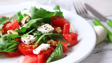 Watermelon Feta Salad with lime & Chilli dressing