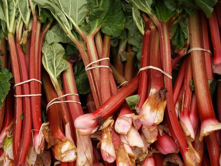 Rhubarb is a key ingredient in this crumble