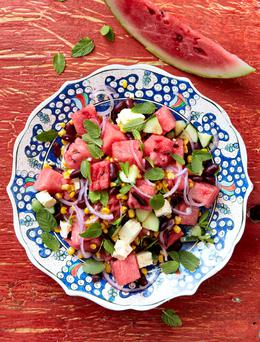 Yum: Rozanne Stevens' Mexican Watermelon, Corn and Bean Salad