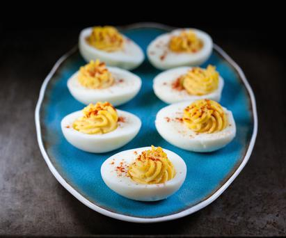 Deviled eggs by forkful.tv