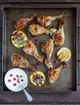 Chicken Drumsticks with Burnt Lemon and Honey