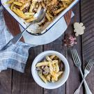 Jerusalem artichoke pasta bake. Photo: Mark Duggan.
