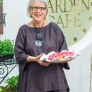 Darina Allen with her Roscommon Rhubarb Pie.
