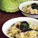 Val's O'Connor's bacon and cabbage risotto