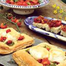 Tomato and goat's cheese tarts.