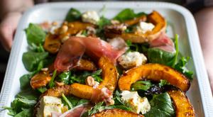 Balsamic squash salad. Photo: Mark Duggan