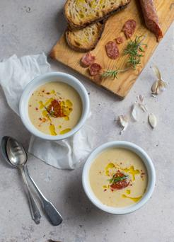 White bean and chorizo soup. Photo: Mark Duggan
