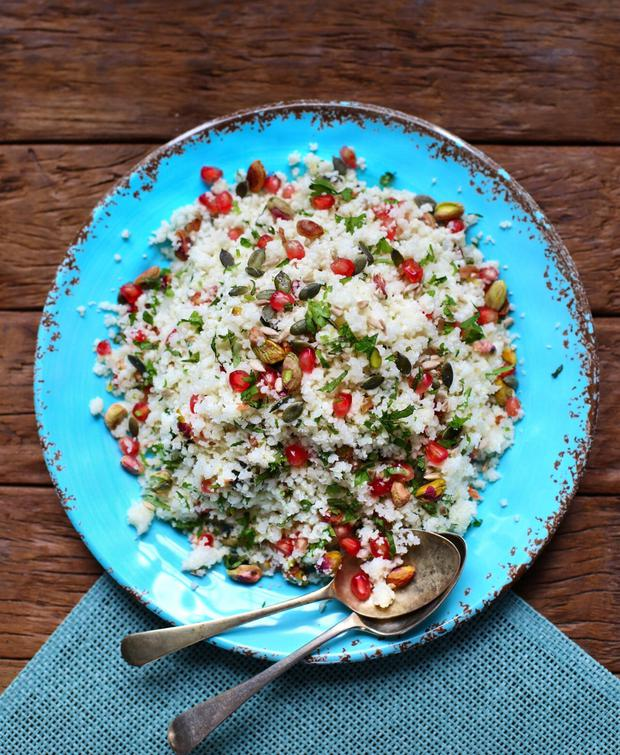Caulfilower tabbouleh, taken from Delalicious: A Full Plate for a Full Life by Sinéad Delahunty, published by The Collins Press 2018
