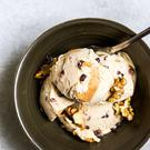 Banana chip swirl ice-cream