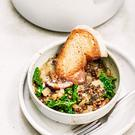 Indy Power's French lentil mushroom stew