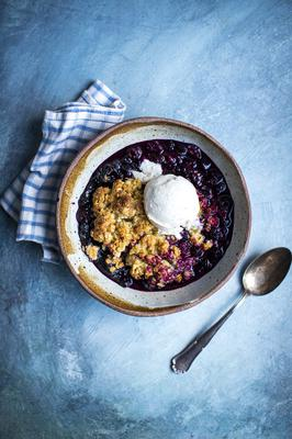 Blueberry & Oat Crumble by Donal Skehan