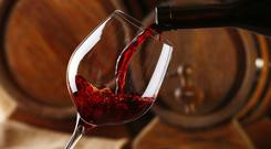 Red wine - the sugar content in grapes has gone up