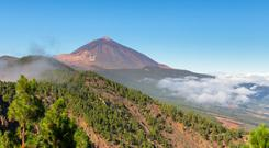 Towering above: the legendary volcano, Mount Teide in Tenereife, is the highest summit in the Canary Islands