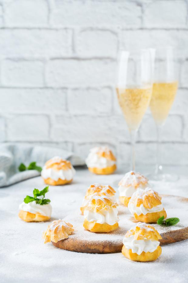 Fizz and finger food: Sparkling wines are a good choice for a range of afternoon tea treats