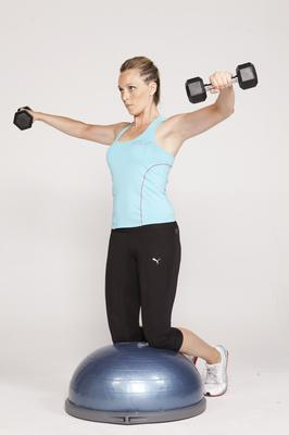 Side lateral on BOSU 2