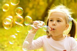 I think the risk of catching Covid-19 from kids' bubbles is very low