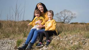 Kirsty Donnellan with her younger children Liam and Freya at home in Tulla, Co Clare. Photo: Eamon Ward