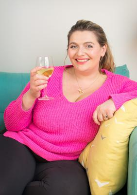 Bryony Gordon - motherhood meant drinking on the sofa. Photo: Geoff Pugh
