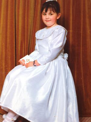 Ciara Connelly on her Communion day