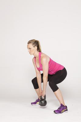 Squat with upright row 1