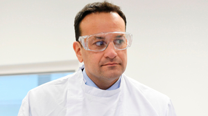 Ireland responds: Taoiseach Leo Varadkar during a visit to the UCD National Virus Reference Laboratory in Dublin