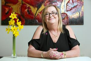 Wigs and brows: Hilary Dunne was diagnosed with breast cancer on her 45th birthday. Look Good Feel Better was a lifeline, she says. Photo: Tony Gavin