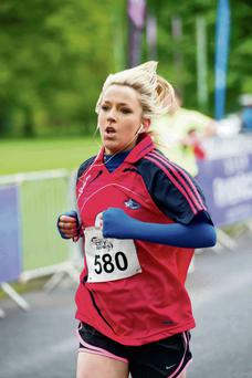 Aishling Jordan enters her second lap at the Fit Series 10k in the Phoenix Park in May. Photo: El Keegan