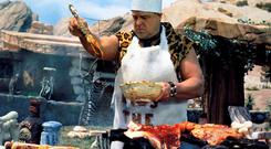 The Great Outdoors: We crave some sun on our backs, and we all love sunny days outdoors, eating and drinking. There are genuine positive health effects from time spent outside in the fresh air, and intuitively we all know it's good for us (Photo shows John Goodman in the 1994 movie 'The Flintstones')