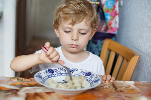 Fussy young eaters can cause much stress to parents. Picture posed