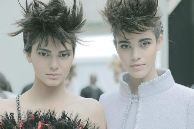 Backstage at the Chanel Autumn Winter 2014 Haute Couture show. Photography by Romina Shame